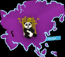Panda in Asia